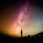 man staring stars