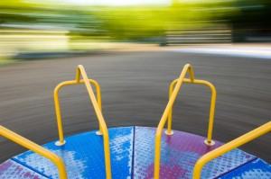 Empty Spinning Merry-go-round