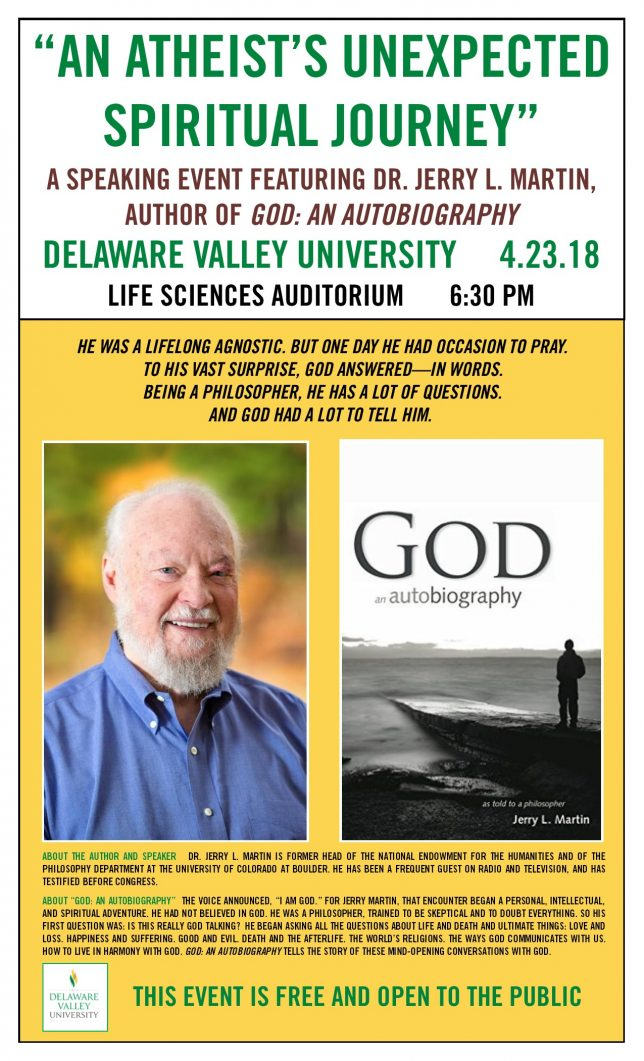 Jerry Martin's Talks and Book Signing Events -